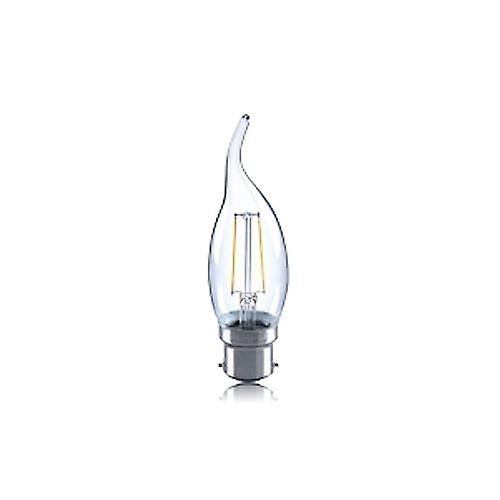 2R2/I1: Flame Tip Candle 2W 250Lm B22 Filament Non-Dimmable 330� Beam Angle 2700K. ILCANDB22N045