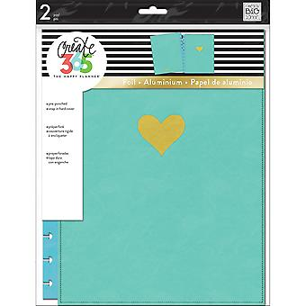 Create 365 Big Snap-In Hard Cover Planner-Turquoise Heart COLB-5