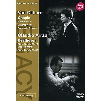 Chopin/Beethoven - Legacy: Cliburn Arrau klaver betragtning [DVD] USA import