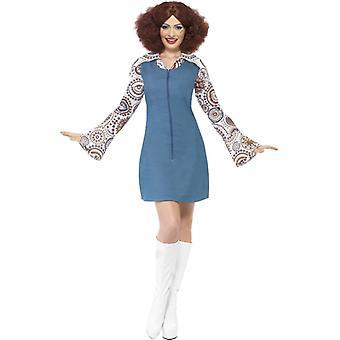 70s costume ladies Groovy dancer dress blouse Dancerkostüm