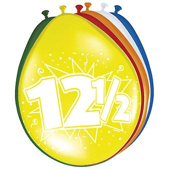 Colorful balloons balloon number 12.5 parsley wedding 8 St. decoration balloons party