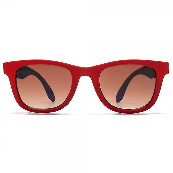 Monkey Monkey Childrens Sam Folding Wayfarer Style Sunglasses In Red With Blue Temples
