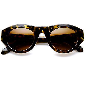 High Fashion fed fælg Oval dame solbriller