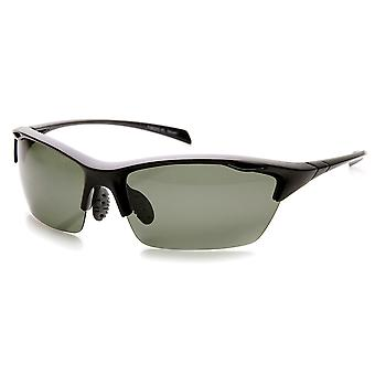 Durable TR-90 Polarized Lens Semi-Rimless Extreme Sports Sunglasses