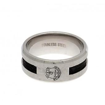Everton-Black Inlay Ring klein