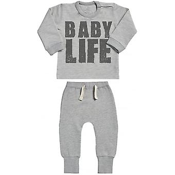 Verwöhnte faulen Baby Life Sweatshirt & Jogger-Baby-Outfit-Set
