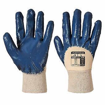 Portwest - Nitrile Light Knitwrist Work Grip Gloves (6 Pair Pack)