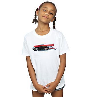 Disney meninas carros Jackson Storm listras t-shirt