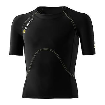 Skins A400 Youth Compression Short Sleeved Top Youth Small Black