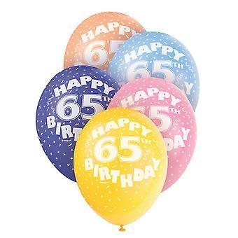 Único partido 12 pulgadas 65 surtido de globos de látex (paquete de 5)