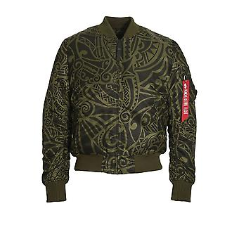 ALPHA INDUSTRIES MA-1 VF Tonga Bomber Jacket | Dark Green