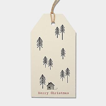 East of India Woodland Christmas Gift Tags Set of 6 Cream