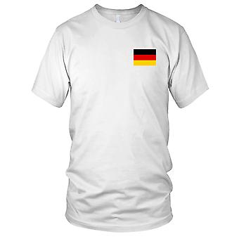 Deutschland deutsche Land Nationalflagge - Stickerei Logo - 100 % Baumwolle T-Shirt Kinder T Shirt