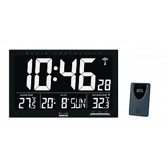 Balance Radio Controlled Wall Clock LCD Black