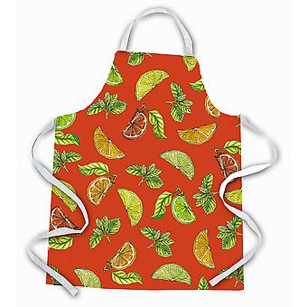 Carolines Treasures  BB5205APRON Lemons, Limes and Oranges Apron