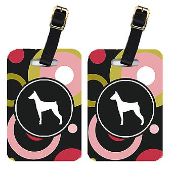 Carolines Treasures  KJ1078BT Pair of 2 German Pinscher Luggage Tags