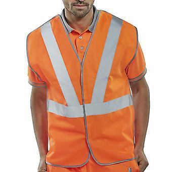 B-Seen Rail Spec Hi Vis Vest 100% Polyester Go/Rt 3279 RIS3279 - Rsv02 P