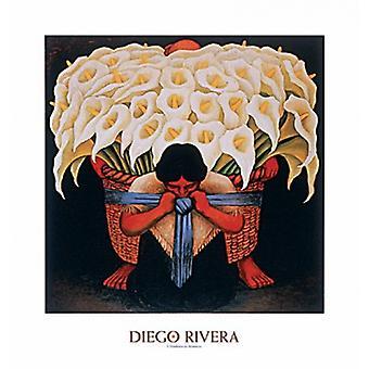 El Vendedor de Alcatreces Poster Print by Diego Rivera ( x 32)