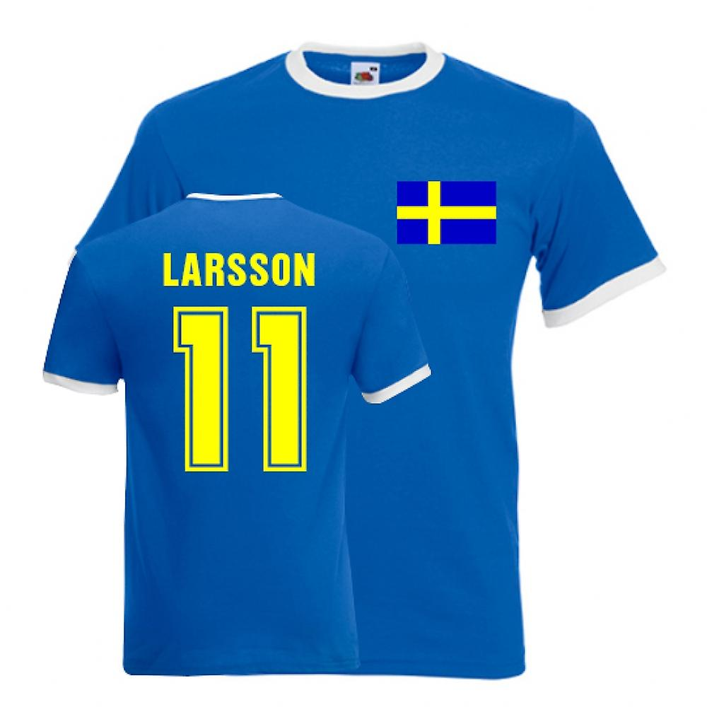 Henrik Larsson Sverige Ringer Tee (blå)