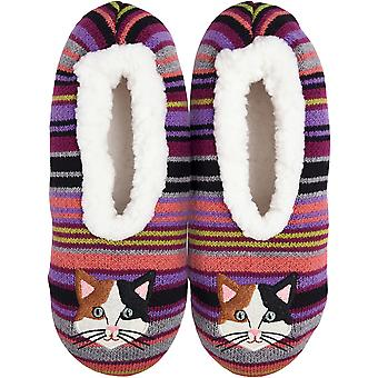 Novelty Slippers-Cat - Medium/Large KBWFS-48ML