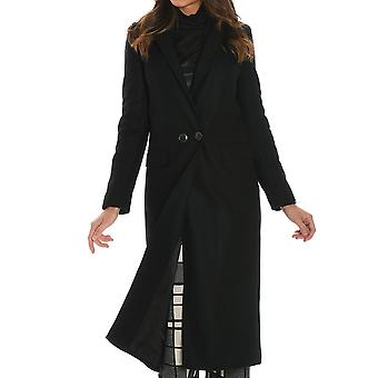 Jucca ladies J2616004003 Black wool coat