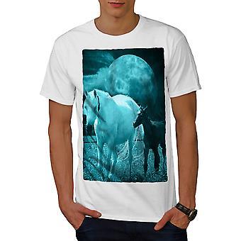 Stallion Friendship Men WhiteT-shirt | Wellcoda