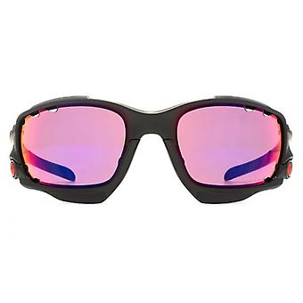 Oakley Racing Jacket Sunglasses In Matte Black Prizm Road