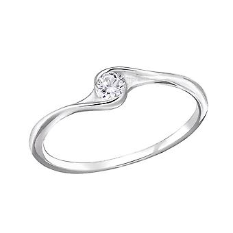 Twisted - 925 Sterling Silver Jewelled Rings - W29235X