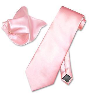 Antonio Ricci Solid NeckTie & Handkerchief Set Men's Neck Tie Set