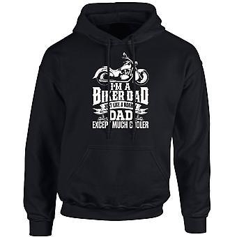 Jag är en Biker pappa utom mycket svalare Unisex Hoodie 10 färger (S-5XL) av swagwear