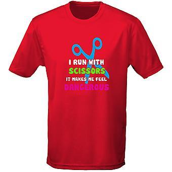 J'ai exécuté avec ciseaux il fait Me sentir dangereux Mens T-Shirt 10 couleurs (S-3XL) par swagwear
