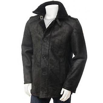 Halfa Mens  Leather Coat
