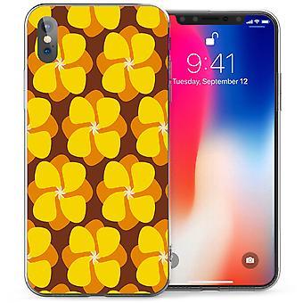 iPhone X Ретро цветочные Лютик гель ТПУ - желтый