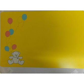 Bodum Kids Placemat - Bear with Balloons Design on Yellow Background - 45 x 30cm