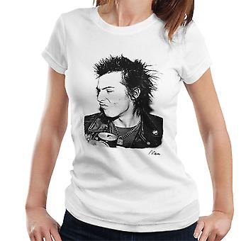 Sid Vicious Close Up With Beer Women's T-Shirt