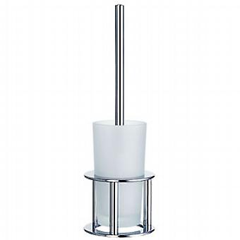 Outline Freestanding Toilet Brush - Polished Chrome FK101