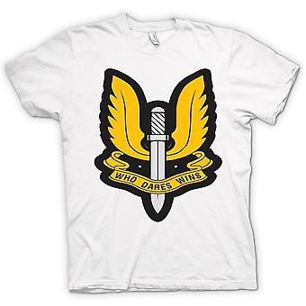 Womens T-shirt - SAS Who Dares Wins Badge - War