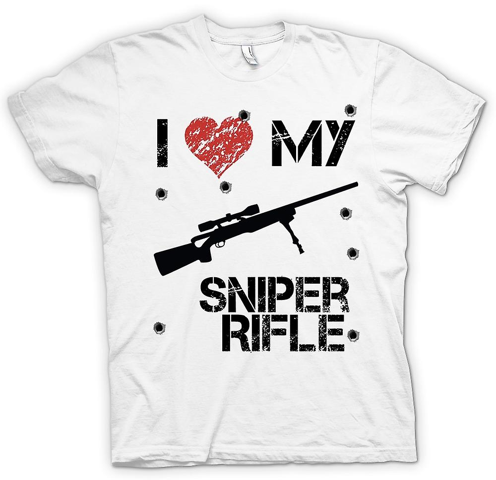 Womens T-shirt - I Love My Sniper Rifle - Funny