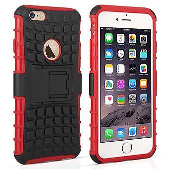 Caseflex iPhone 6 s Ständer Combo Case - rot