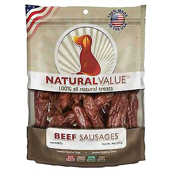 Natural Value Treats 14oz-Beef Sausages