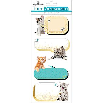 Paper House Life Organized Label Stickers-Kittens
