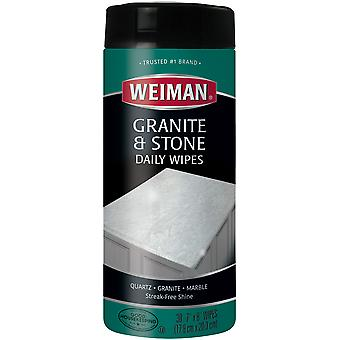 Weiman Granite & Stone Daily Wipes-30 Wipes/Pkg