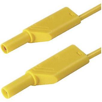 Punta de prueba de seguridad [Banana jack 4 mm - Banana jack 4 mm] 0,25 m ge amarillo SKS Hirschmann MLS WS 25/1