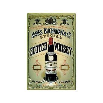 James Buchanan Whisky geprägtes Metall unterzeichnen 200 X 300 Mm