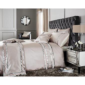 Diva Fancy Sequin Panel lace Duvet Quilt Cover Polycotton Luxury Bedding Set