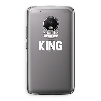 Motorola Moto G5 Transparent Case (Soft) - King black