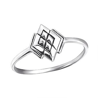 Diamant - 925 Sterling Silber Plain Ringe - W24600X