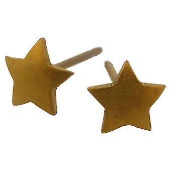 Ti2 Titanium geometriske Star Stud øredobber - Tan Beige