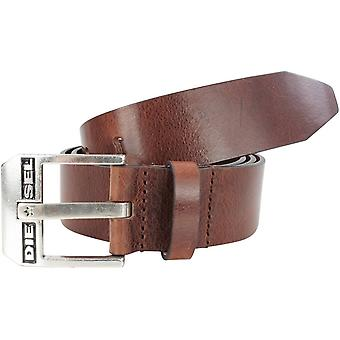 Diesel Bluestar Leather Belt - Dark Brown