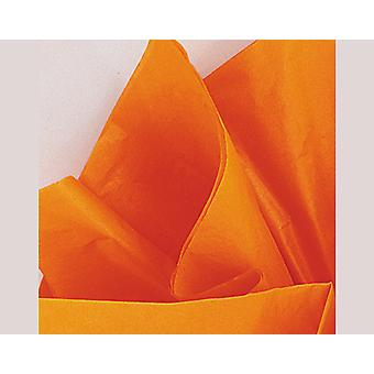 10 Sheets Tissue Paper - Orange | Gift Wrap Supplies